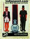 UNIFORMS OF 1780 AND 1980 CREST & RIBBON 0960 Indian Post