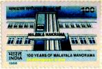 100 YEARS OF MALAYALA MANORAMA 1305 Indian Post